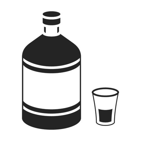 ajenjo: Absinthe icon in black style isolated on white background. Alcohol symbol vector illustration.