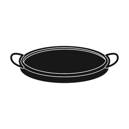 sifting: Sieve icon in black style isolated on white background. Kitchen symbol vector illustration. Illustration