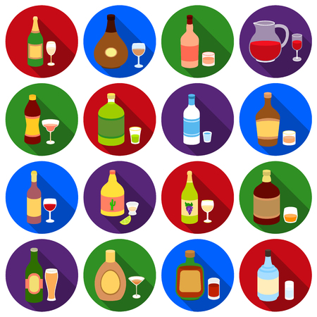 vermouth: Alcohol set icons in black style. Big collection of alcohol vector symbol stock