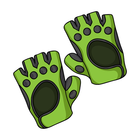 Gym gloves icon in cartoon style isolated on white background. Sport and fitness symbol vector illustration.