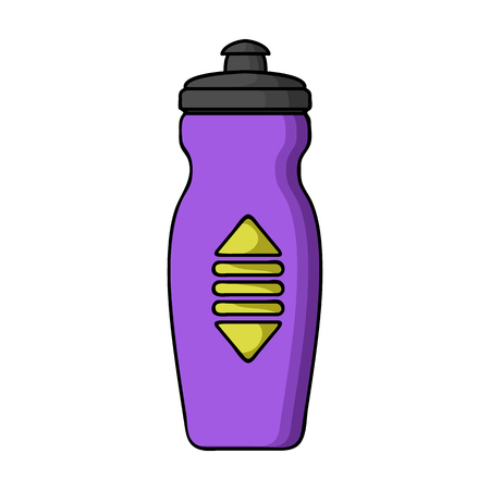 siphon: Water bottle icon in cartoon style isolated on white background. Sport and fitness symbol vector illustration.