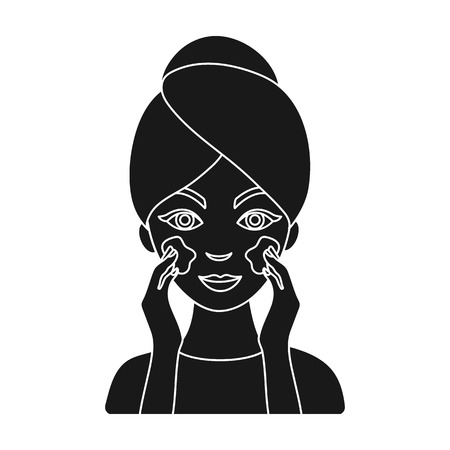 Face care icon in black style isolated on white background. Skin care symbol vector illustration. Illustration