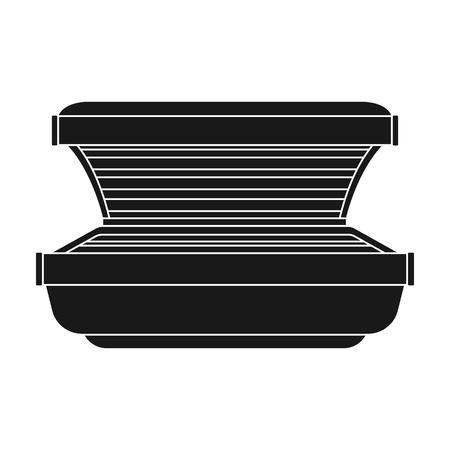 Curtido icono de la cama en el estilo de negro sobre fondo blanco. cuidado de la piel ilustración vectorial símbolo.