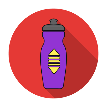 siphon: Water bottle icon in flat style isolated on white background. Sport and fitness symbol vector illustration. Illustration