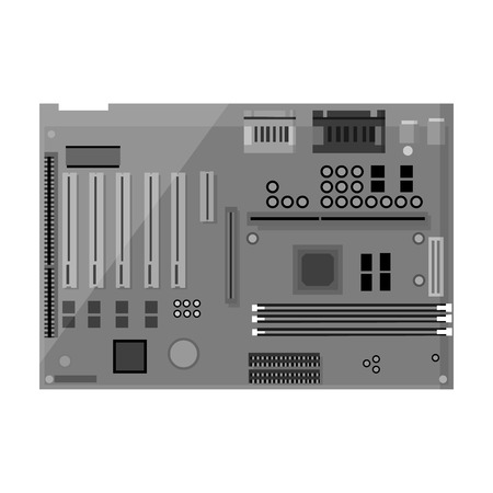 motherboard icon in black style isolated on white background rh 123rf com Computer Motherboard SY-K7VME Wire Computer Motherboard SY-K7VME Wire