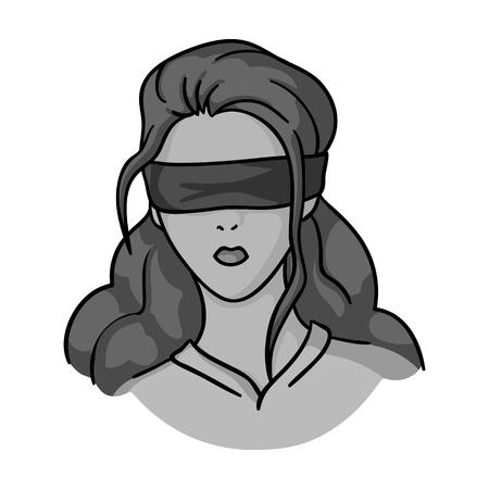 Hostage icône dans le style monochrome isolé sur fond blanc. Crime symbole illustration vectorielle. Vecteurs