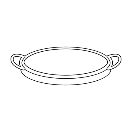 sifting: Sieve icon in outline style isolated on white background. Kitchen symbol vector illustration. Illustration