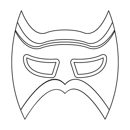 Eye mask icon in outline style isolated on white background. Superheros mask symbol vector illustration.