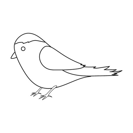twit: Parus icon in outline style isolated on white background. Park symbol stock vector illustration.