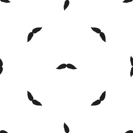 Mans mustache icon in black style isolated on white background. Beard pattern symbol vector illustration. Illustration