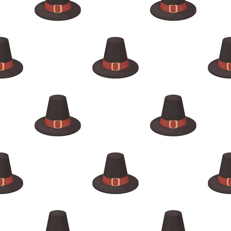 pilgrim hat: Pilgrim hat icon in cartoon style isolated on white background. Canadian Thanksgiving Day pattern symbol vector illustration.