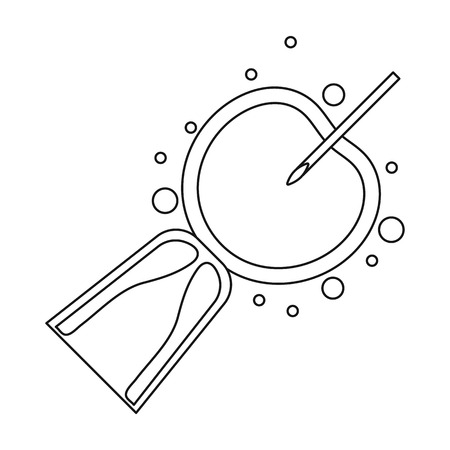 insemination: Artificial insemination icon in outline style isolated on white background. Pregnancy symbol vector illustration.
