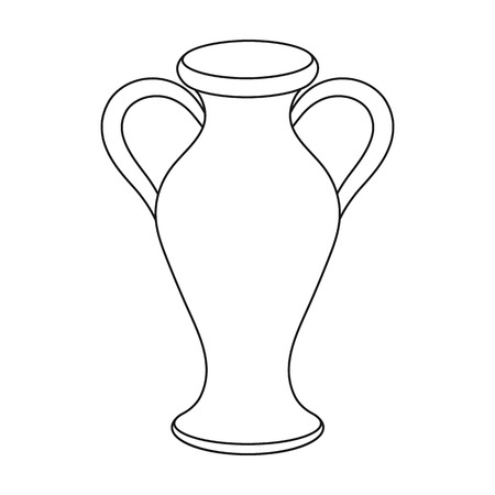 Amphora icon in outline style isolated on white background. Theater symbol vector illustration Illustration