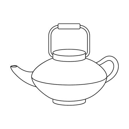 tetsubin: Tetsubin icon in outline style isolated on white background. Sushi symbol vector illustration.