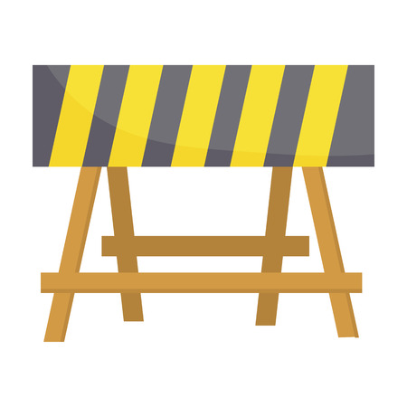 Construction barricade icon in cartoon style isolated on white background. Build and repair symbol vector illustration. Illustration