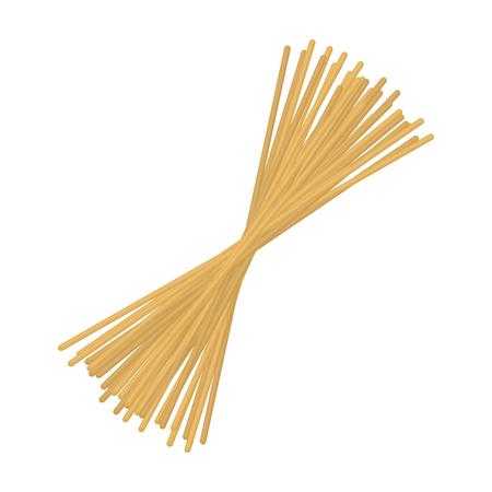 Spaghetti pasta icon in cartoon style isolated on white background. Types of pasta symbol vector illustration.