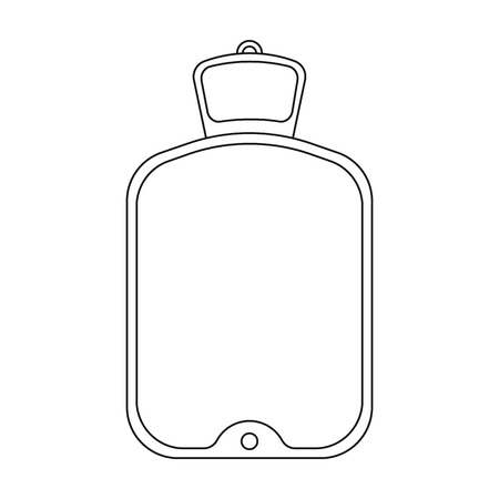 warmer: Warmer icon in outline style isolated on white background. Medicine and hospital symbol vector illustration.