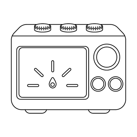 power supply: Power supply tattoo icon in outline style isolated on white background. Tattoo symbol vector illustration.