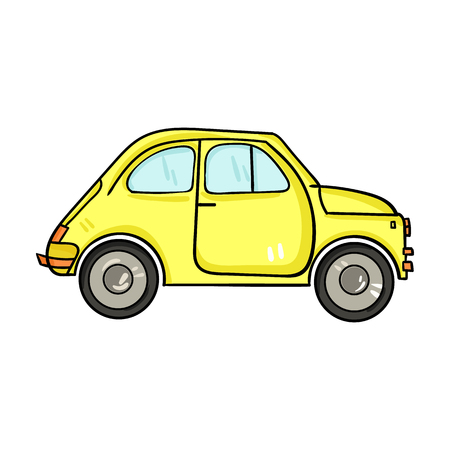 Italian retro car from Italy icon in cartoon style isolated on white background. Italy country symbol vector illustration. Vektorové ilustrace