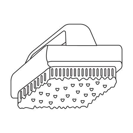 brush cleaner: Cleaner brush outline icon. Illustration for web and mobile. Illustration
