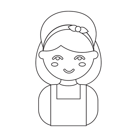 homemaker: Housewife outline icon. Illustration for web and mobile. Illustration
