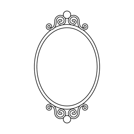 Mirror icon of vector illustration for web and mobile design