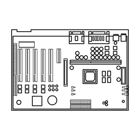 computer motherboard wiring diagram symbols schematic diagrams motherboard block diagram motherboard icon in outline style isolated on white background desktop computer wiring diagram computer motherboard wiring diagram symbols