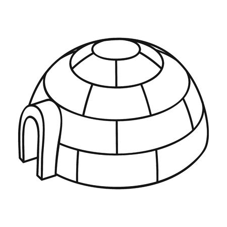 Icono De Iglú En Estilo De Dibujos Animados Aislado Sobre