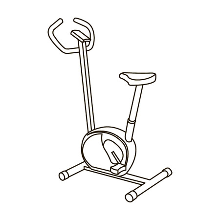 Exercise bike icon outline. Single sport icon from the big fitness, healthy, workout outline.