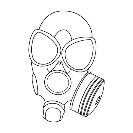 gas masks: Gas masks icon outline. Single weapon icon from the big ammunition, arms outline.