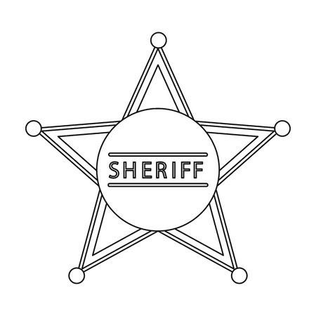 sherif: Sheriff icon outline. Singe western icon from the wild west outline. Illustration