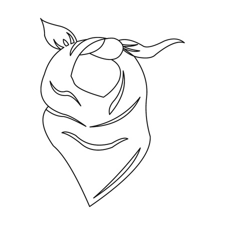 Cowboy scarf icon outline. Singe western icon from the wild west outline.