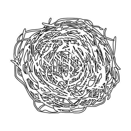 dry grass: Tumbleweed icon outline. Singe western icon from the wild west outline. Illustration