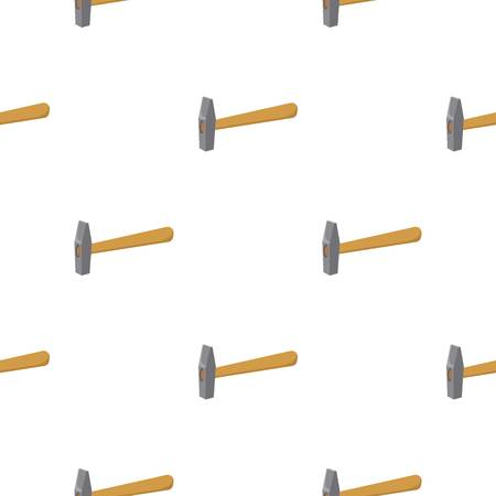 carpentry cartoon: Hammer icon in cartoon style isolated on white background. Build and repair symbol vector illustration.