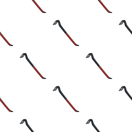 crowbar: Crowbar icon in pattern style isolated on white background. Crime symbol vector illustration.