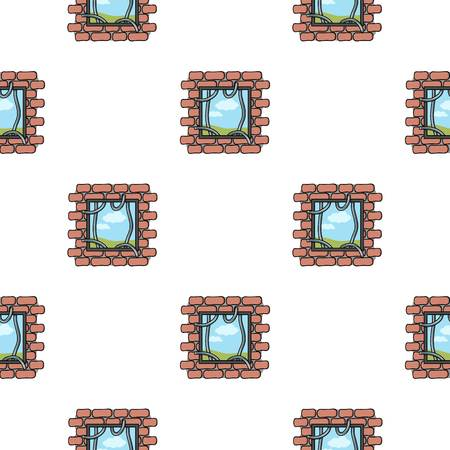 jailbreak: Prison escape icon in pattern style isolated on white background. Crime symbol vector illustration.