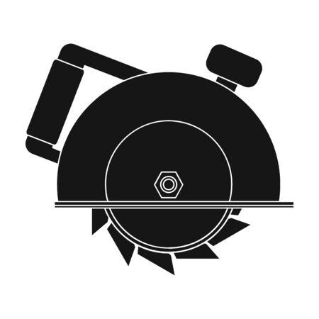 Circulaire Zaag Icoon In Cartoon Stijl Gesoleerd Op Een Witte