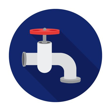 trickle: Tap icon in flat style isolated on white background. Build and repair symbol vector illustration. Illustration