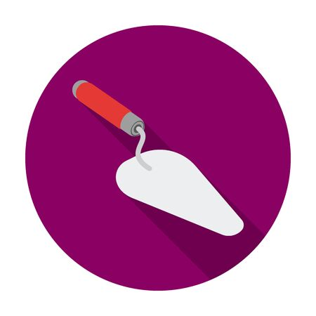Trowel icon in flat style isolated on white background. Build and repair symbol vector illustration.