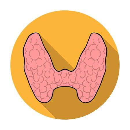 Human thyroid icon in flat style isolated on white background. Human organs symbol vector illustration.