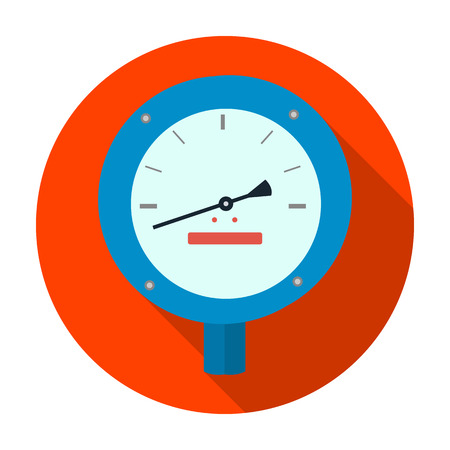 manometer: Oil manometer icon in flat style isolated on white background. Oil industry symbol vector illustration. Illustration