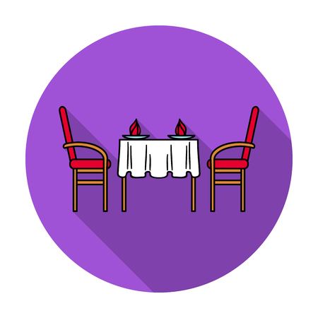 Restaurant table icon in flat style isolated on white background. Restaurant symbol vector illustration. Vectores
