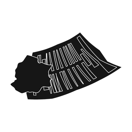 paper wad: Crumpled paper icon in black style isolated on white background. Trash and garbage symbol vector illustration.