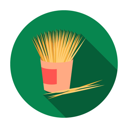 small group of objects: Toothpicks icon in flat style isolated on white background. Dental care symbol vector illustration.