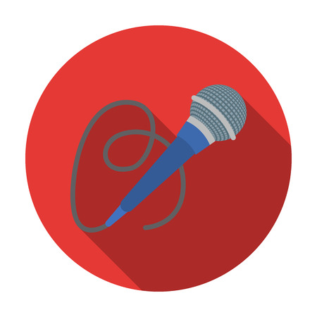 happy birtday: Microphone icon in flat style isolated on white background. Event service symbol vector illustration.