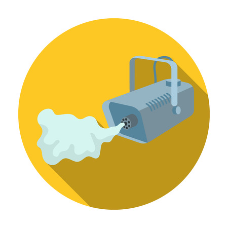 launcher: Fog machine icon in flat style isolated on white background. Event service symbol vector illustration. Illustration