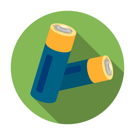Used batteries icon in flat style isolated on white background. Trash and garbage symbol vector illustration.