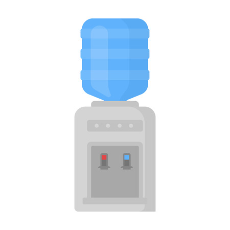 purified: Office water cooler icon in cartoon style isolated on white background. Office furniture and interior symbol vector illustration. Stock Photo