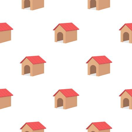 doghouse: Doghouse vector illustration icon in cartoon design Illustration