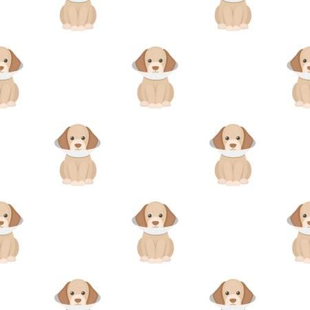cold compress: Sick dog vector illustration icon in cartoon design